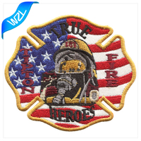 Heat seal backing iron on patch Embroidery USA eagle patch logo design