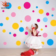 black and white polka dots big wall stickers, room decals chalkboard dry erase