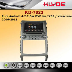 factory hot sell car dvd players for hyundai ix55 with android DVR