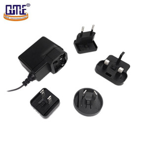 international changeable plug-in 220v ac dc 5v 1a switching power adapter