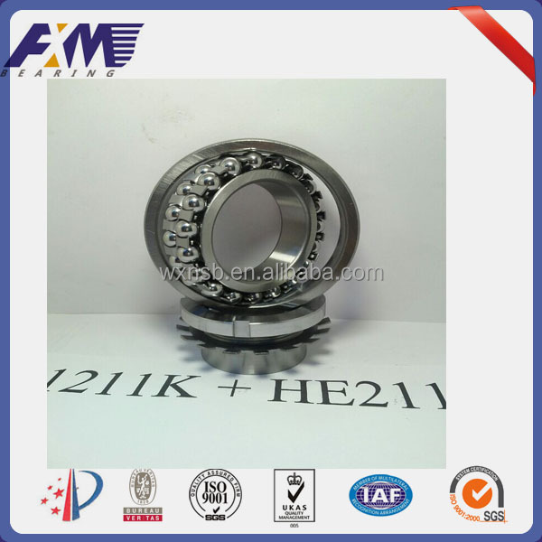 Self Aligning Ball Bearing1211K+HE211 Double Row Ball Bearings