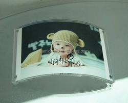 Creative acrylic photo frame, transparent plexiglass semicircular arc frame