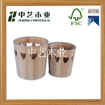 nature wood high quality wooden barrel/ bucket with black steel hoop