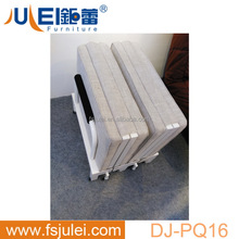 modern movable fabric steel single hotel extra bed folding cot DJ-PQ16B