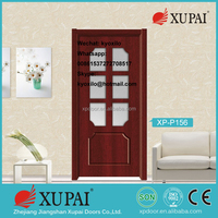2016 Hot Sale Wooden Pvc Doors with Foged Glass for Construction Real Estate Door & Windows