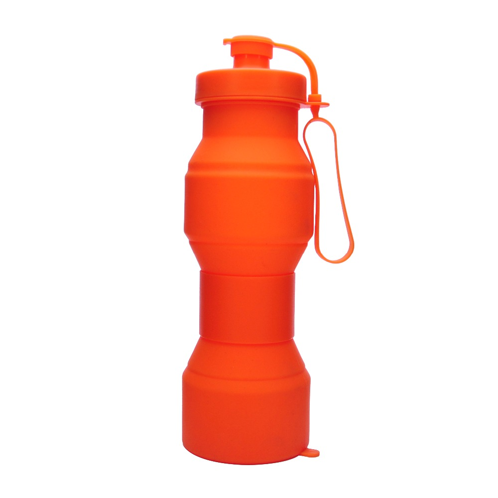 Hot sale 290-800ml folding silicone sport water bottle