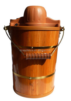 6qt wood bucket Ice Cream Maker