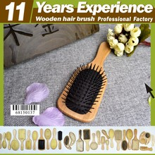11 year experience factory professional top quality hot sales Eco-Friendly wooden decorative hair brush