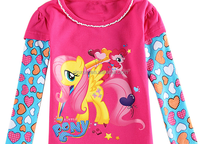 Top selling new girls' T-shirt with long sleeve,Korean T-shirt
