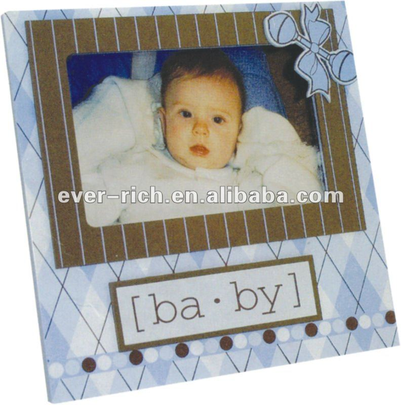 Modern home decorative item hand made wooden photo frames baby picture frame