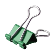 High intensity 5 # 19mm colored stainless steel metal double foldback binder clip