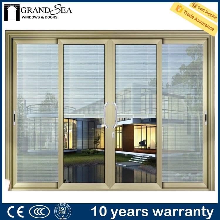 Hot sale large conner sliding fiberglass shed doors with for Large sliding glass doors for sale