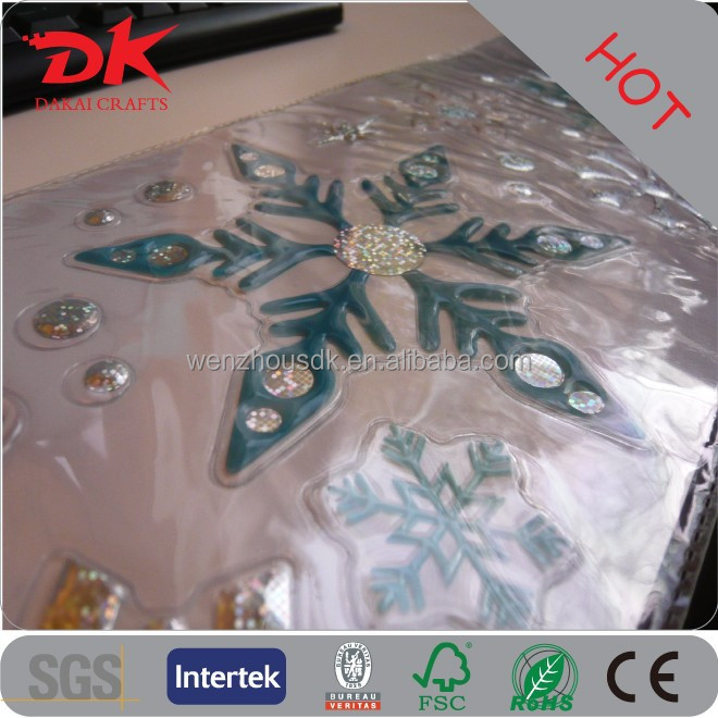 Custom star flow snow removable 3d wall stickers/window sticker board