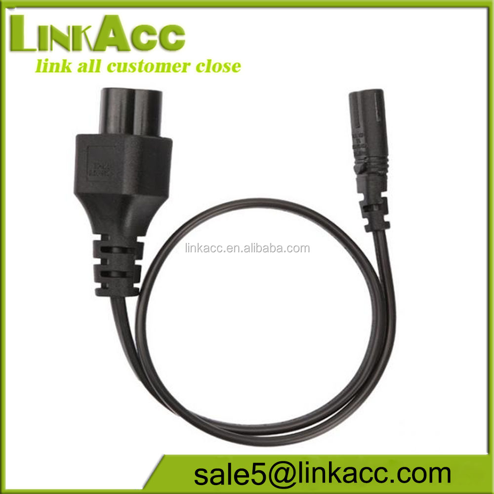 LKCL273 IEC 320 3pin C6 Micky to C7 2 pin female AC Power Cord
