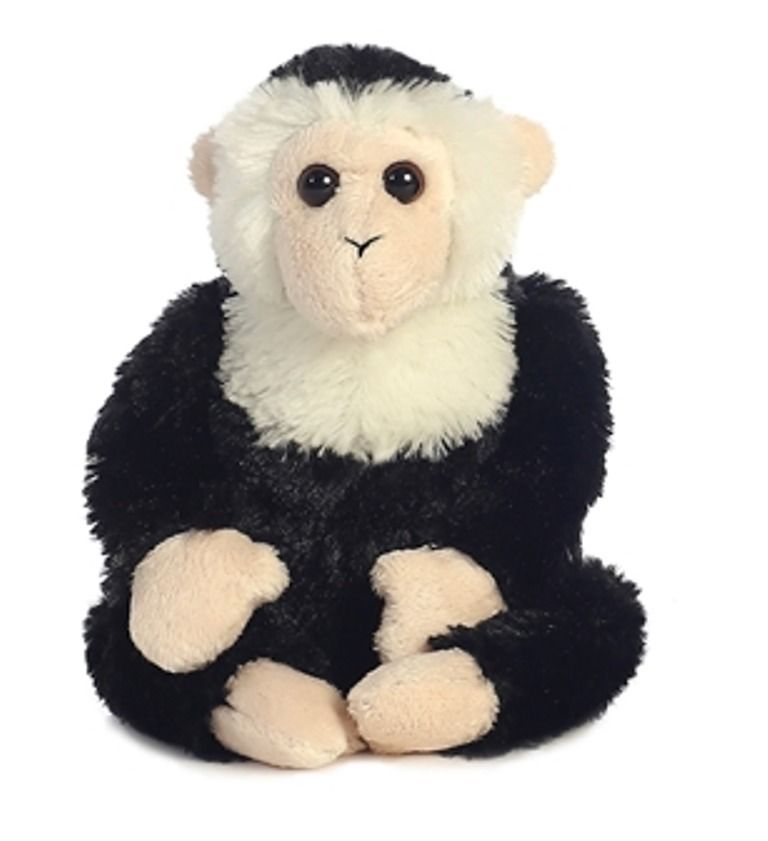 Natural animals White and Black Capuchin Monkey Plush toy