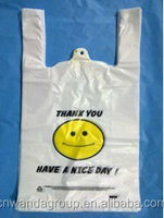 T-Shirt hdpe colored plastic shopping bags with colors