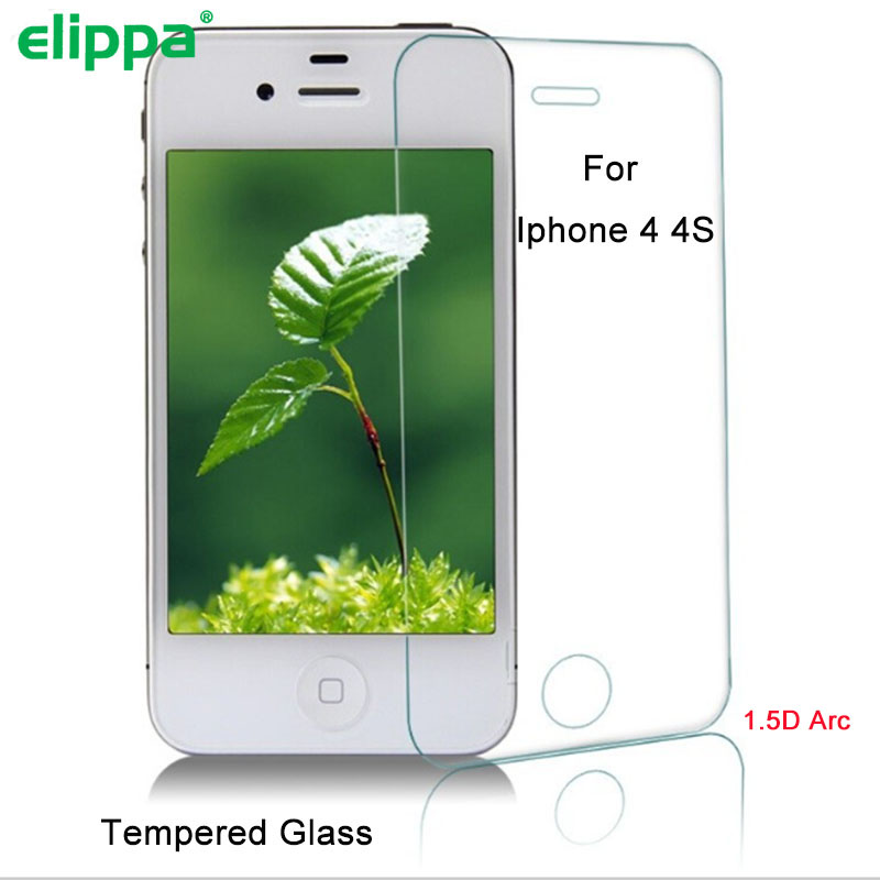 1.5D Original Clear tempered glass for iphone 4 4s 99% High transparency screen protector