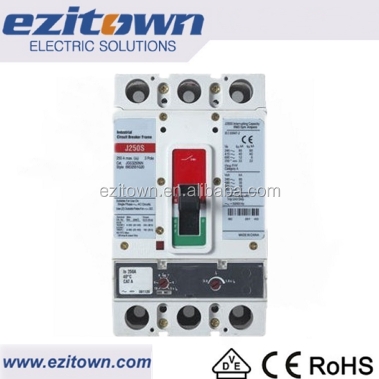 Ezitown G serie 4 pole mccb Hot sale 100A 250A 400A 690V AC high breaking capacity electric moulded case circuit breaker mccb