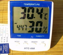 HTC-608 LCD Digital Temperature Meter Humidity Meter Hygrometer Blue/White