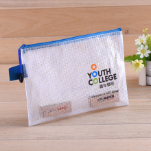 PVC Document Bag Waterproof Information Kits Transparent Plastic Zipper Bag