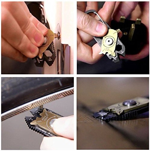 20 In Outdoor Multi Tool Key Hanging Bottle Opener Nail Puller Screwdriver