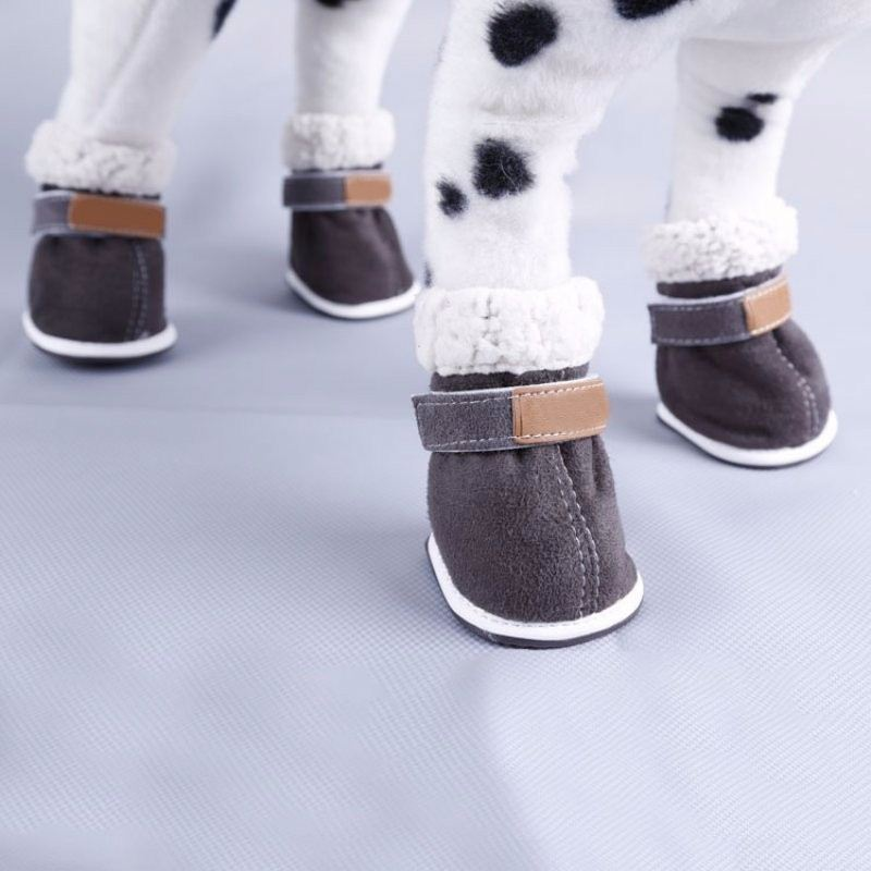 Non-slip Shoes Cotton Shoes Waterproof Warm Winter Shoes Teddy Pet Thick Soft Bottom Snow Boots