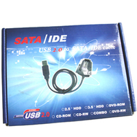 USB 2.0 To SATA IDE Cable For External Hard Disk HDD + Power Supplier