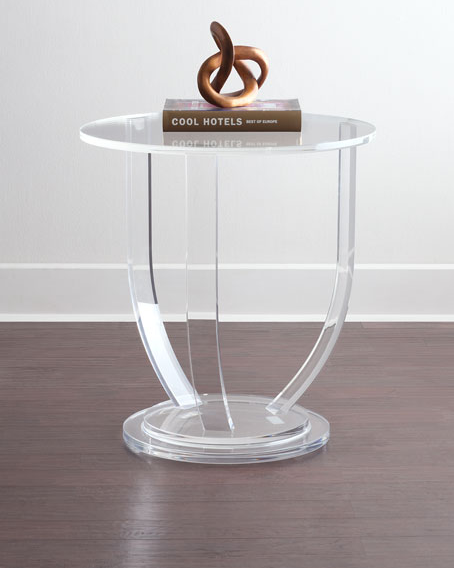 Customized clear modern acrylic side table