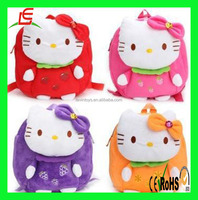 D250 Hello Kitty Doll Backpack Set Bag for Kids Plush Toy Pink school bag