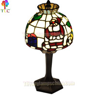 CT-02 Christmas tiffany accent lamp gift lamp christmas father lighting china wholesale