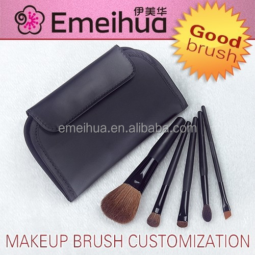 black 5pcs girls makeup brush sets