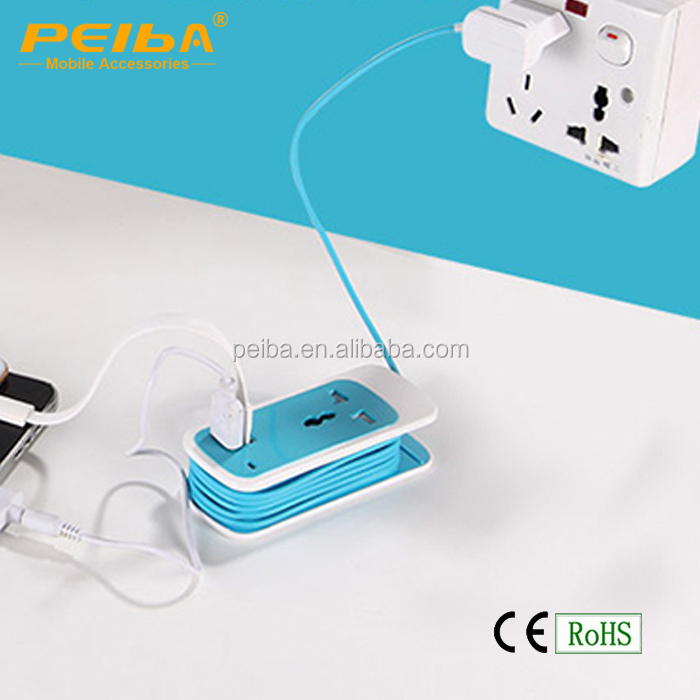 US/UK/EU Universal Mini Portable Charging Electric Multi Plug & USB Power Extension Plugs Sockets