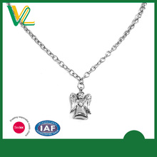 OEM Design Latest design Die casting Nickel Angel Silver Accessory Necklaces Pendant for girl