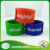 Fashion custom fitness sport silk print silicone bracelets rubber silicone slap band wristband