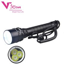 Superior quality led professional diving torch 100m diving range flashlight