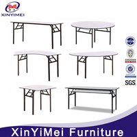 foldable plywood pvc hotel table for banquet