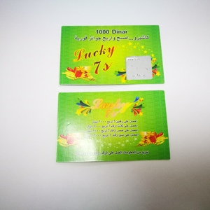 Custom scratch card printing with special anti-faking features