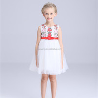 2 4 6 new frock design baby girls dress satin tricolor 3-5 year old girl dress