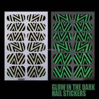 Nail Polish Sticker Gel Nail Sticker Zigzag Glow In Dark Nail Sticker