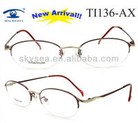 Latest Designer High Quality Womens Japanese Titan Eyeglass Frame