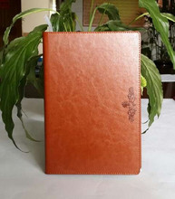 2014 leather 6 ring binder custom notebook planner