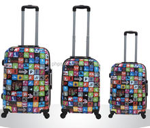 ABS PC PRINTING TROLLEY LUGGAGE USED FOR AIRPORT LUGGAGE TROLLEY