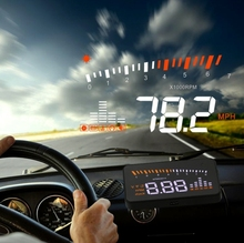 3 inch Universal Multi Car Head Up Display with OBDII EOBD System Light Sensors Rotation Speed Rotation Speed Unit Unit Mark