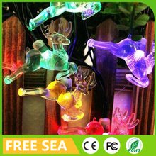 alli baba com hot sale rain resistant plastic 4.8m 20 deers solar panel string light