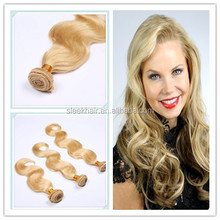 wholesale best quality virgin human blonde color 613 hair extension human hair