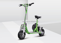 EVO/Uberscoot 2 wheel 150cc gas scooter motorcycle style stand up with CE certificate hot on sale