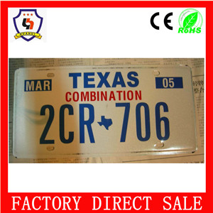 5%off California style metal custom neoblank license plate frame parkingmotorcycle & cars wholesale HH-licence plate-027