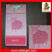 wholesale lovely sheep dyed red color cheap kitchen towel