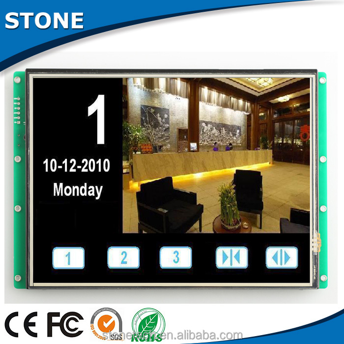 "controlled by MCU command set 5.6"" lcd panel high brightness sunlight readable"
