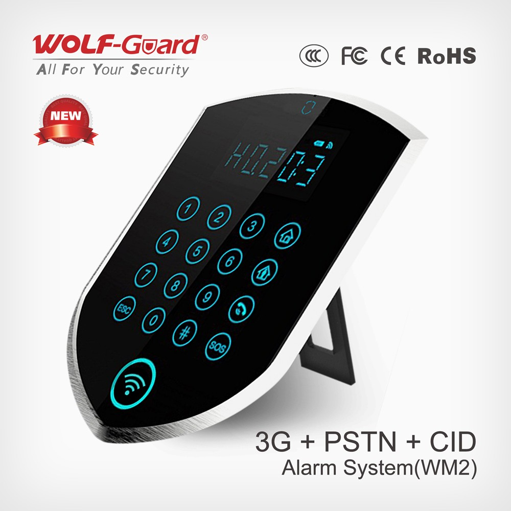 CE & ROHS ! People-Oriented GSM Alarm Products LCD Display , Best Sistemas de alarma 3G/GPRS wifi alarm system security